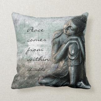 Cojín Decorativo Buda de reclinación con paz cita palabras de la