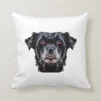 Cojín Decorativo Cabeza de perro negro del demonio