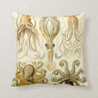 Cojín Decorativo Calamar Gamochonia del pulpo del vintage de Ernst