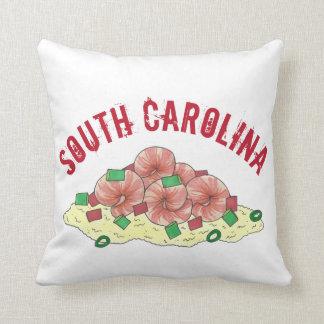 Cojín Decorativo Camarón del SC de Lowcountry Carolina del Sur y