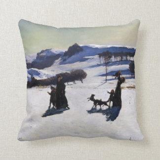 Cojín Decorativo Campos de nieve por un regalo del navidad del