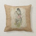 Cojín Decorativo Canción de amor francesa de los pájaros del amor