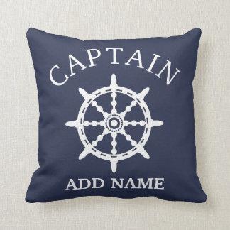 Cojín Decorativo Capitán del barco (personalice a Name de capitán)