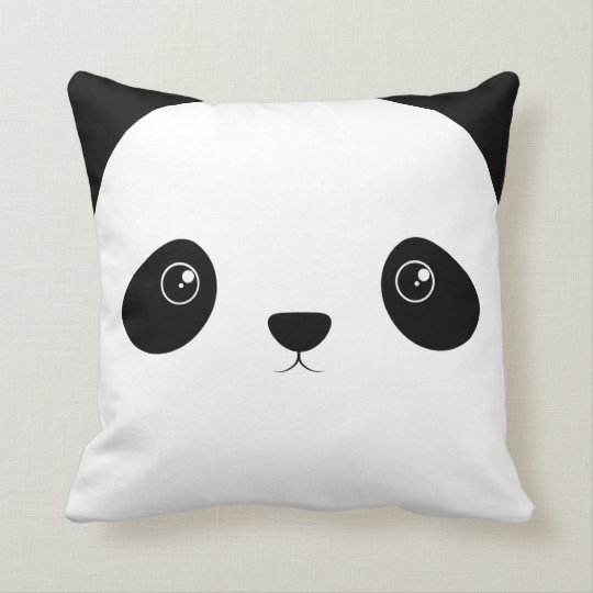 Cojín Decorativo Cara de la panda
