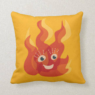 Cojín Decorativo Carácter ardiente feliz de la llama del fuego