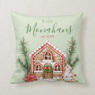 Cojín Decorativo Casa de pan de jengibre del navidad del país