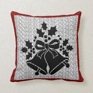 Cojín Decorativo Cascabeles y acebo para el rezo del navidad del