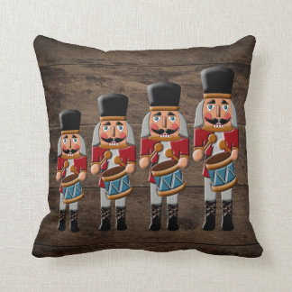 Cojín Decorativo Cascanueces de madera rústico del navidad del país
