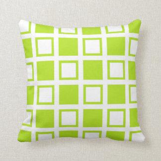 Cojín Decorativo Casillas blancas del verde lima y