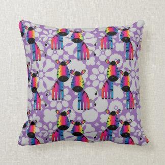Cojín Decorativo Cebra del arco iris
