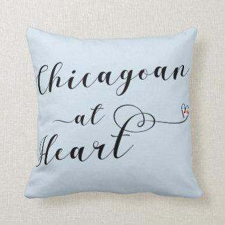 Cojín Decorativo Chicagoan en el amortiguador del tiro del corazón,