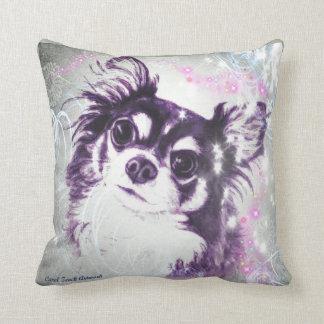 Cojín Decorativo Chihuahua de pelo largo