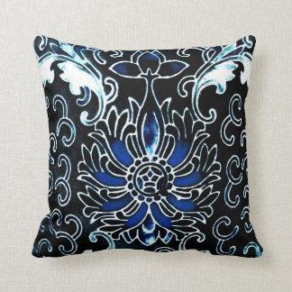 Cojín Decorativo Chino del vintage en azul