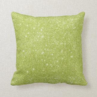 Cojín Decorativo Chispas del brillo de la verde lima