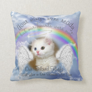 Cojín Decorativo Cielo divino con el monumento del mascota del arco