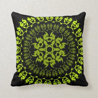 Cojín Decorativo círculo verde del colmillo