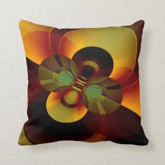 Cojín Decorativo Círculos Brown abstracto geométrico y oro