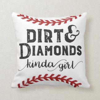 Cojín Decorativo Clase de la suciedad y de los diamantes de tema