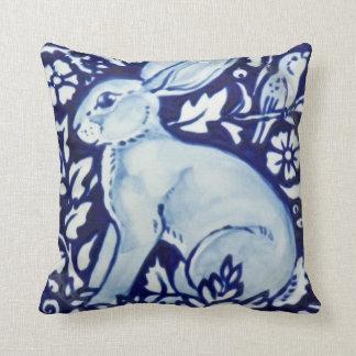 Cojín Decorativo Cobalto azul y blanco de la decoración de la