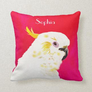 Cojín Decorativo Cockatoo brillante rosado