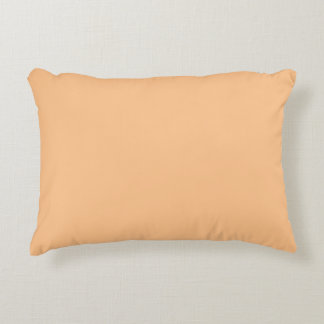 Cojín Decorativo Color anaranjado del sorbete