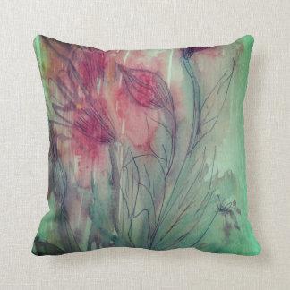 Cojín Decorativo Color de agua floral