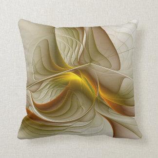 Cojín Decorativo Colores de metales preciosos, arte abstracto del