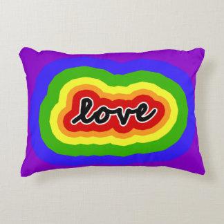 Cojín Decorativo Colores del amor del arco iris