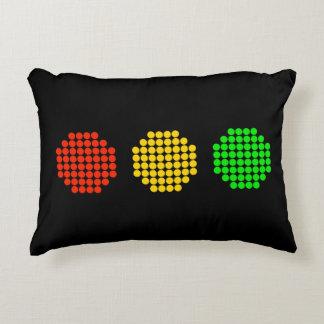Cojín Decorativo Colores horizontales de la luz de parada del punto