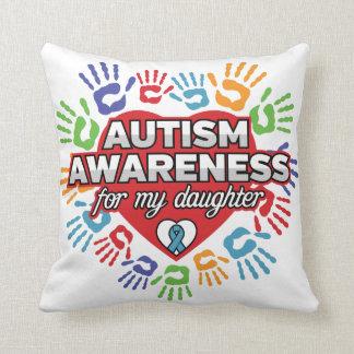 Cojín Decorativo Conciencia del autismo para mi hija