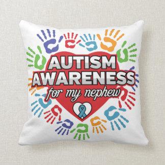 Cojín Decorativo Conciencia del autismo para mi sobrino