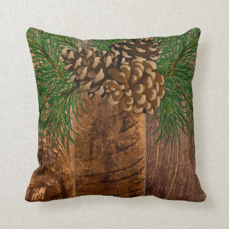 Cojín Decorativo Cono rústico de madera y del pino