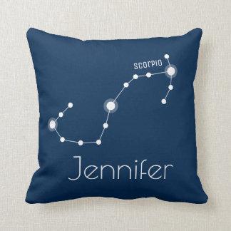 Cojín Decorativo Constelación personalizada del zodiaco del
