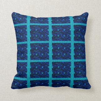 Cojín Decorativo Controles azules claros y azul marino de la