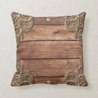 Cojín Decorativo Cortijo elegante occidental del vintage rústico de
