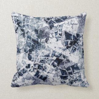 Cojín Decorativo Cristales de hielo - azul marino