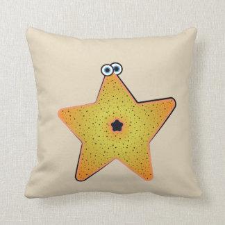 Cojín Decorativo Critter de las estrellas de mar del dibujo animado