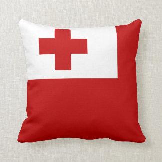 Cojín Decorativo Cruz Roja de la bandera de la isla de Tonga