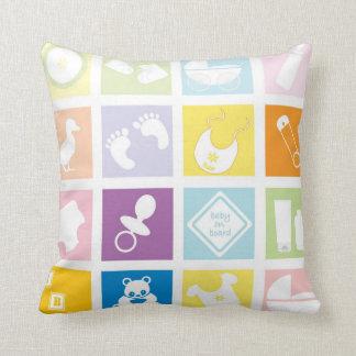 Cojín Decorativo Cuadrados del bebé