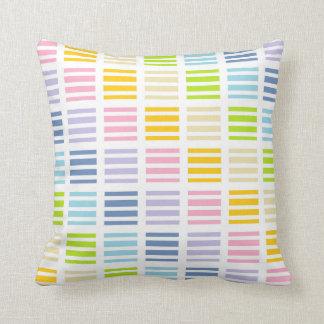 Cojín Decorativo Cuadrados y rayas en colores pastel del arco iris