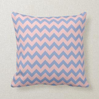 Cojín Decorativo Cuarzo color de rosa y serenidad Chevron, zigzag