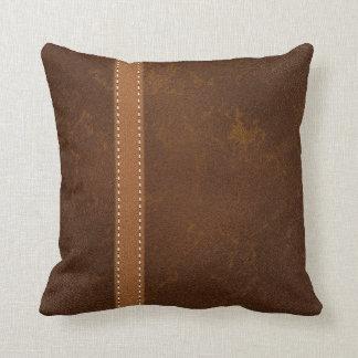 Cojín Decorativo Cuero rugoso y correa de la piel cruda de DIGITAL