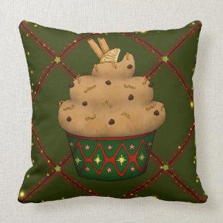 Cojín Decorativo Cupcake mono con canela, naranja, chocolate