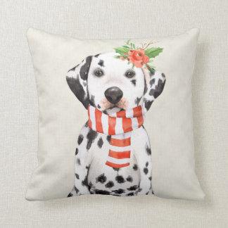Cojín Decorativo Dalmatian del día de fiesta del navidad