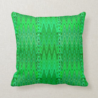 Cojín Decorativo Damasco, esmeralda y verde lima étnicos de Chevron