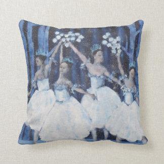 Cojín Decorativo Danza del ballet del cascanueces de los copos de