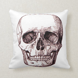 Cojín Decorativo Decoración de Halloween del vintage del cráneo,