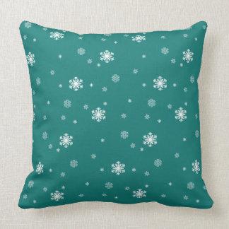 Cojín Decorativo Dejáis le nevar, modelo de los copos de nieve en