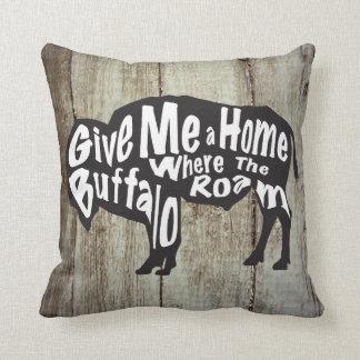 Cojín Decorativo Déme un hogar en donde el búfalo vaga por la