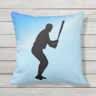 Cojín Decorativo Deportes del azul del talud del béisbol